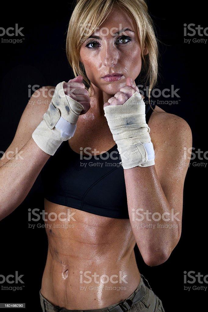 Female boxing royalty-free stock photo