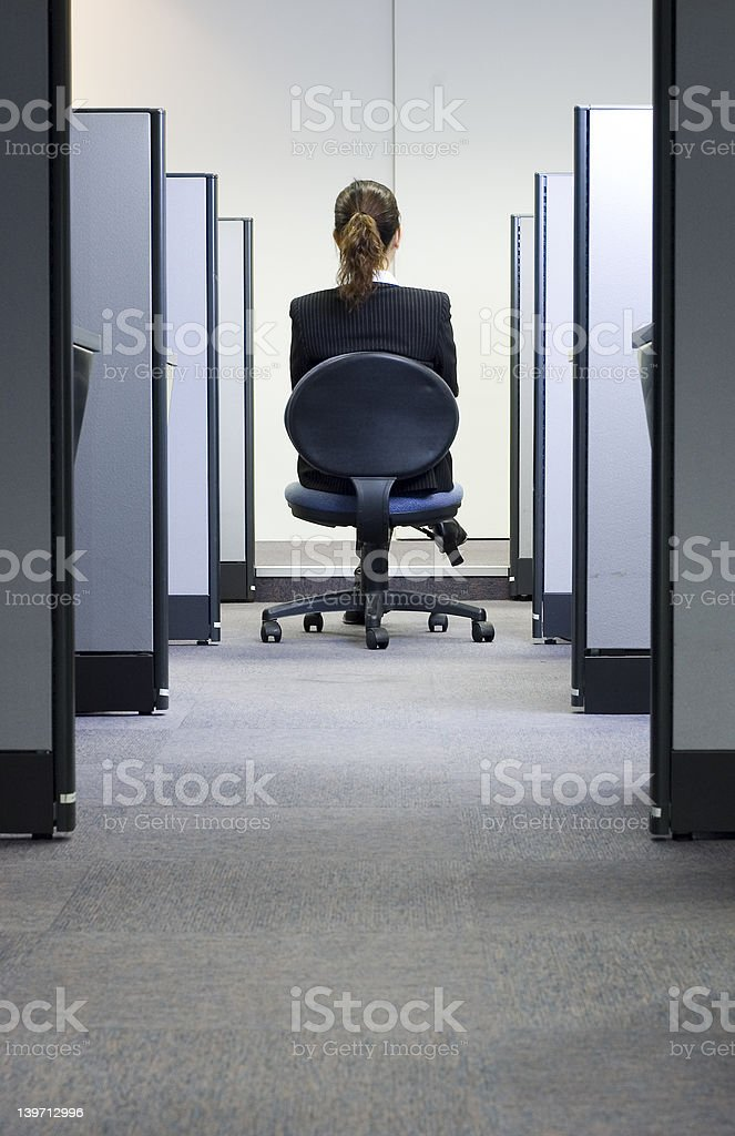 Female business executive in ofice royalty-free stock photo