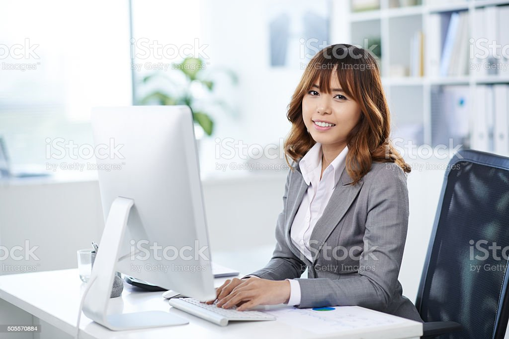 Female business executive stock photo