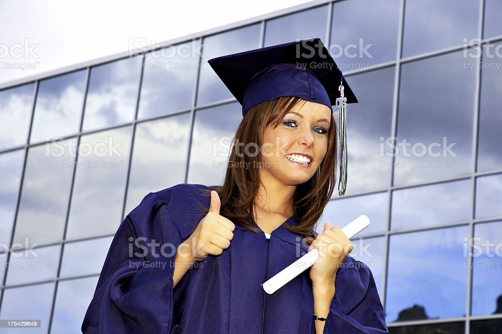 Female Business Grad royalty-free stock photo
