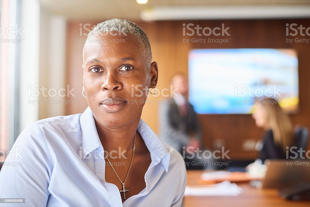 female business owner stock photo