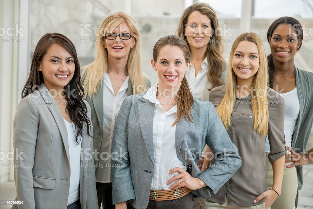 Female Business Professionals Together at Work stock photo