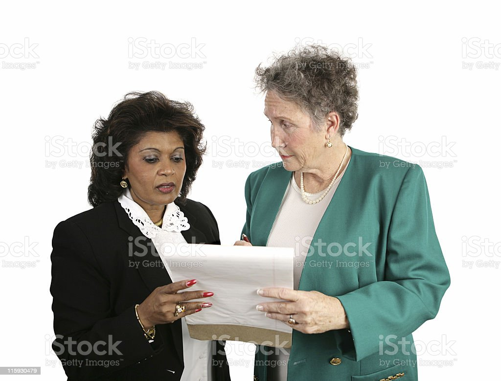 Female Business Team - Concerned royalty-free stock photo