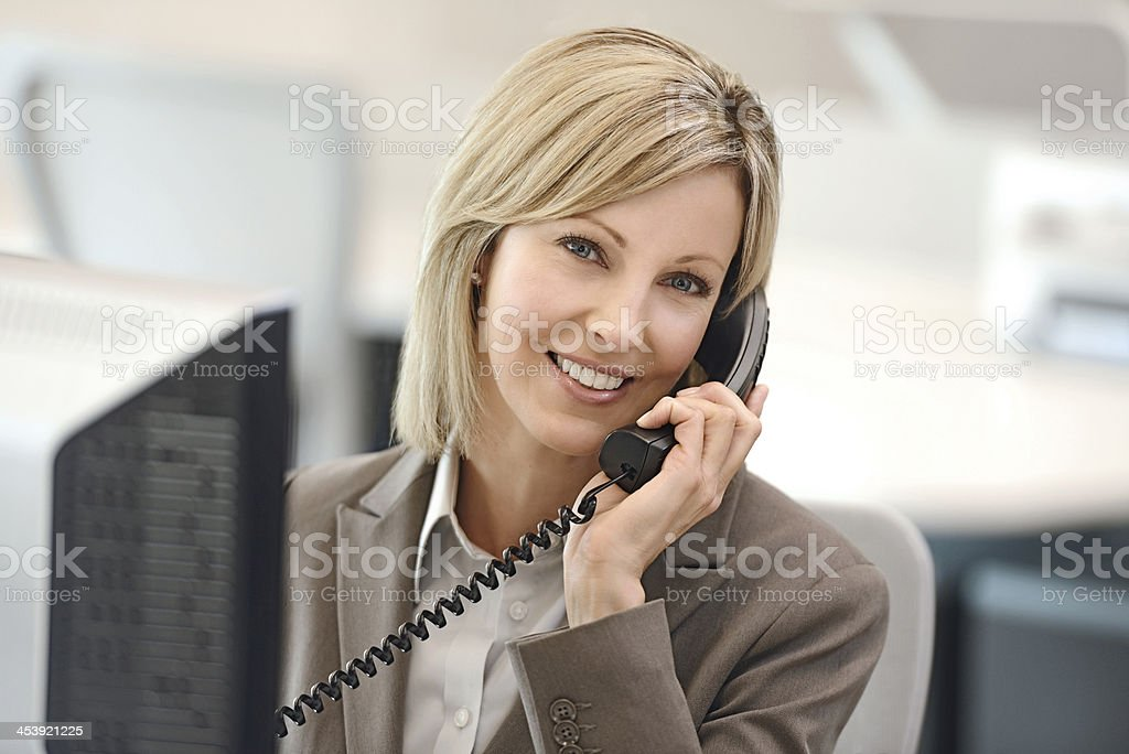 Female business woman on the phone royalty-free stock photo
