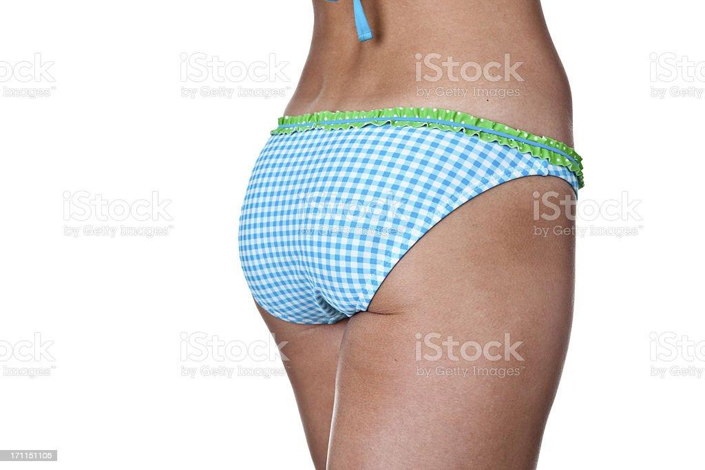Female buttocks wearing a bikini royalty-free stock photo