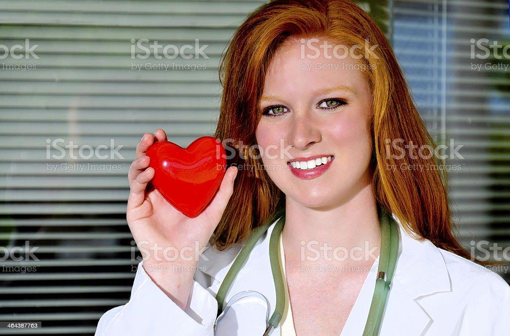 Female Cardiologist royalty-free stock photo