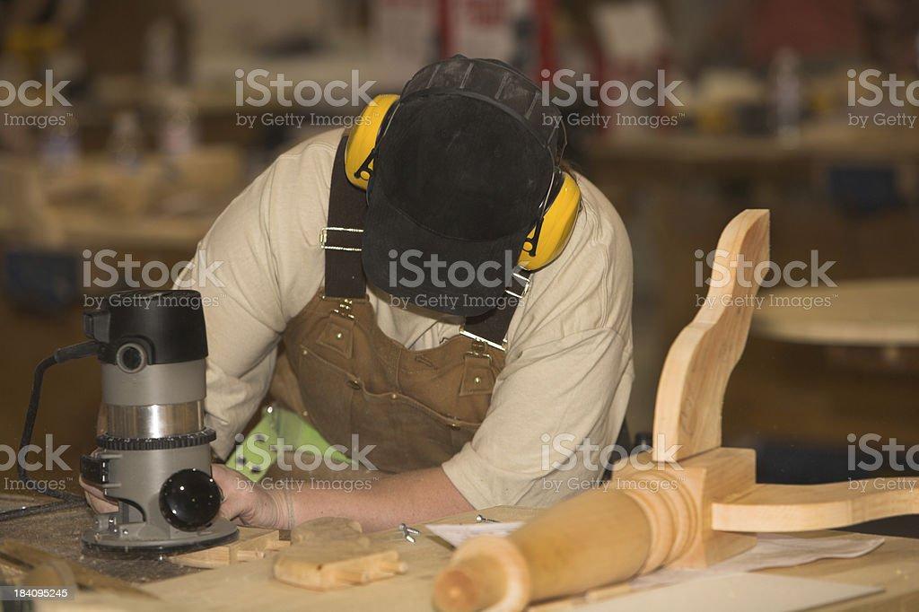 Female Carpenter royalty-free stock photo