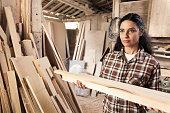 Female carpenter worker