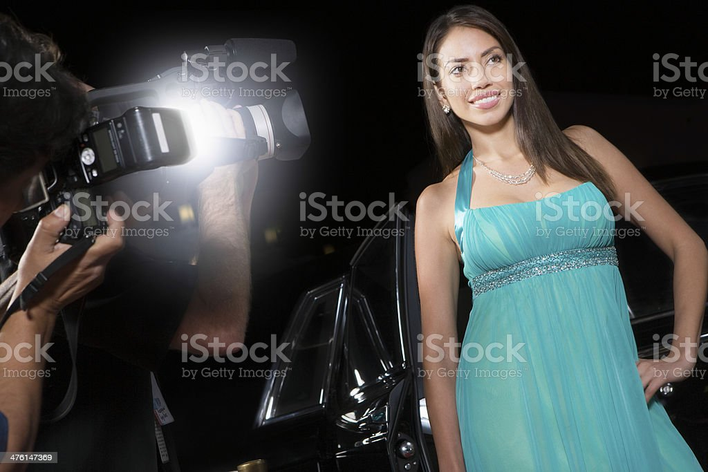 Female Celebrity Being Photographed royalty-free stock photo