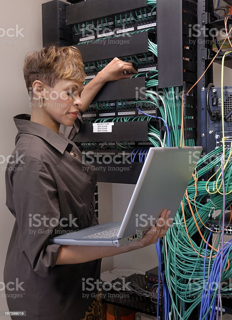 Female Certified IT Professional stock photo