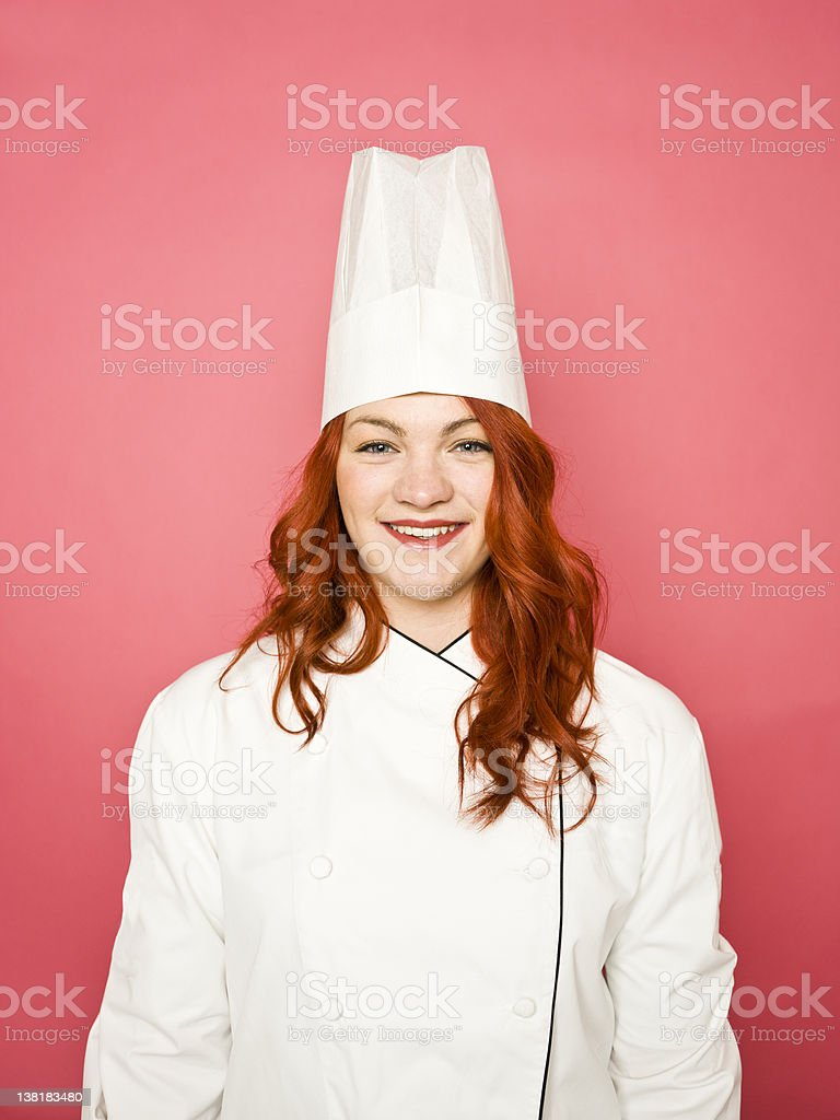 Female chef royalty-free stock photo