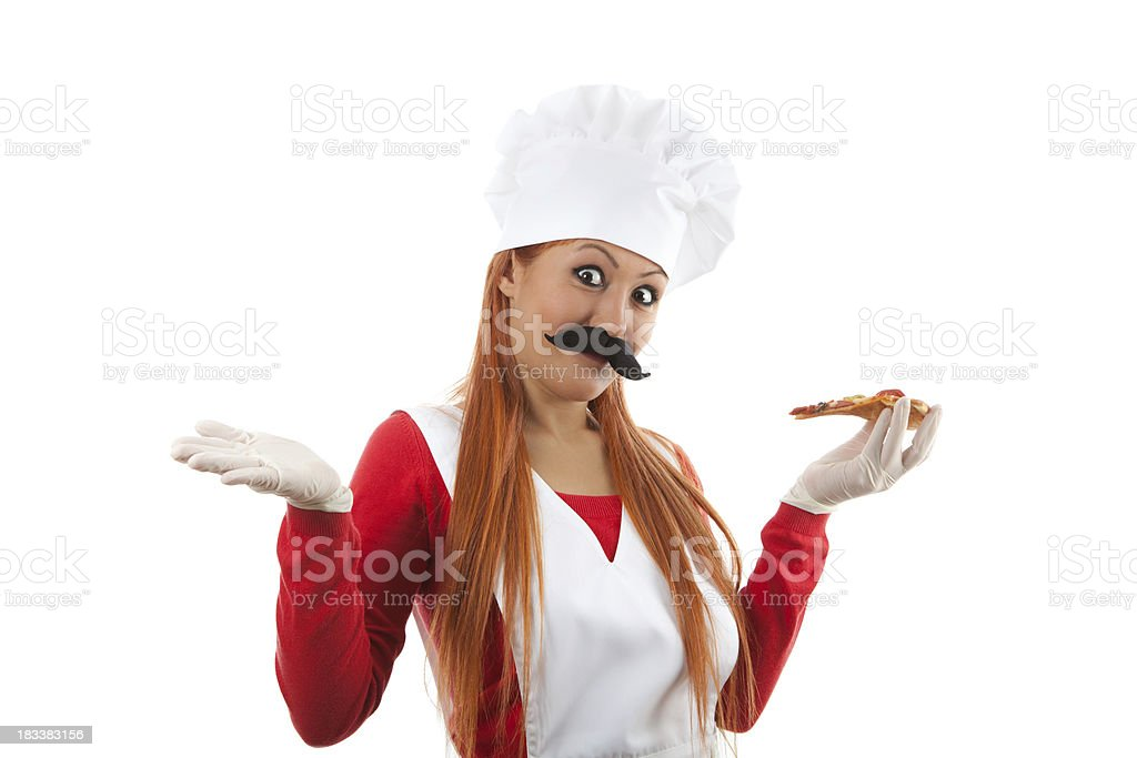 Female chef presenting series royalty-free stock photo
