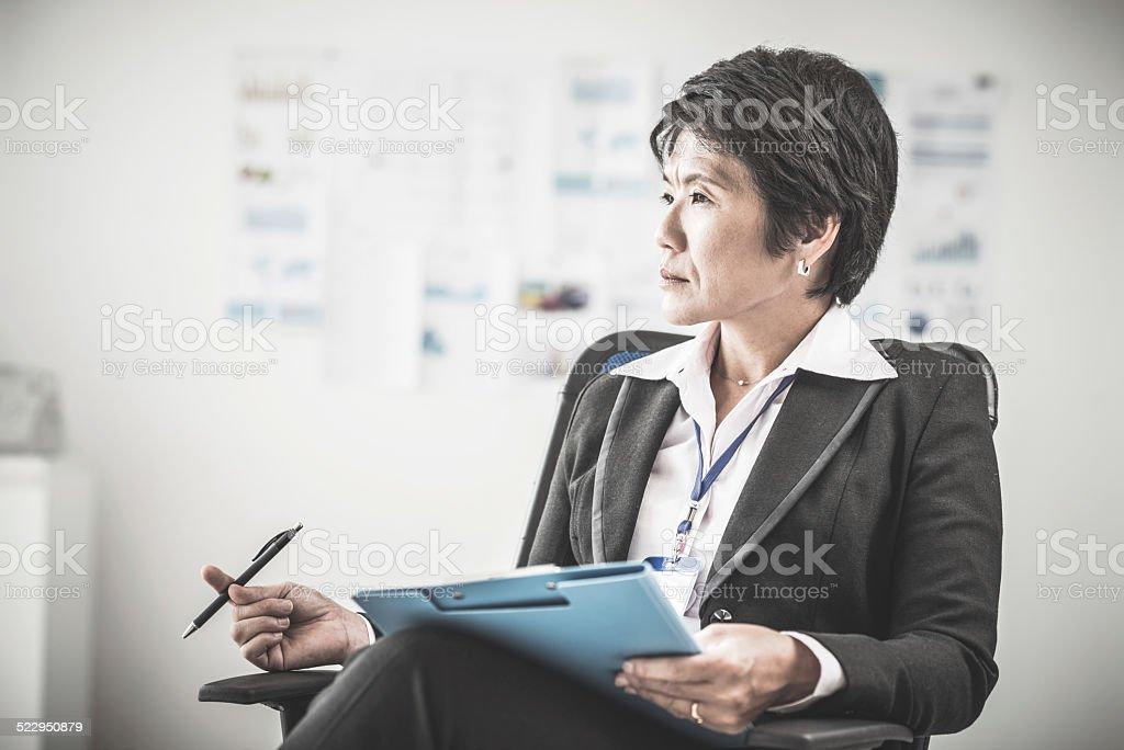 Female chief stock photo
