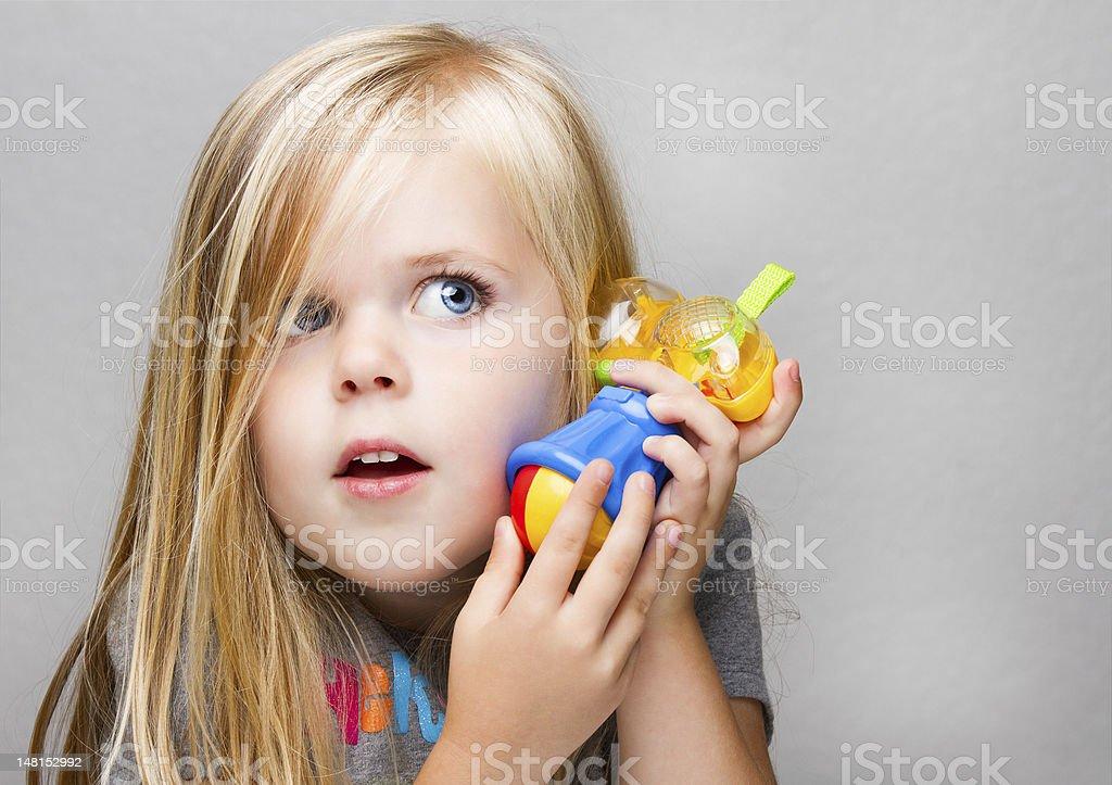 Female child having fun stock photo