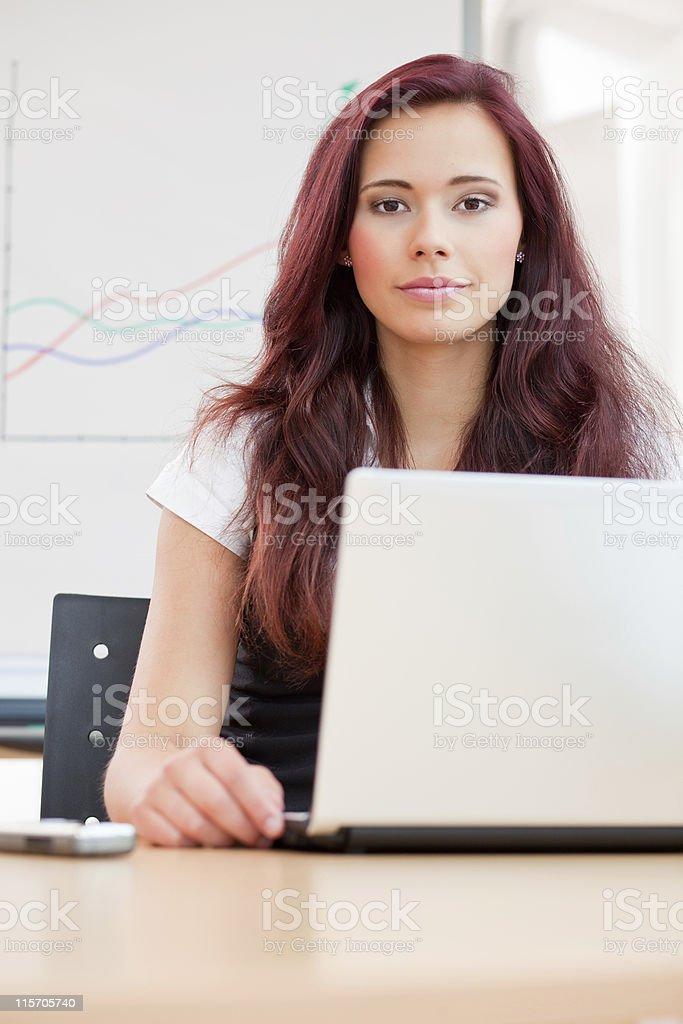 female clerk royalty-free stock photo