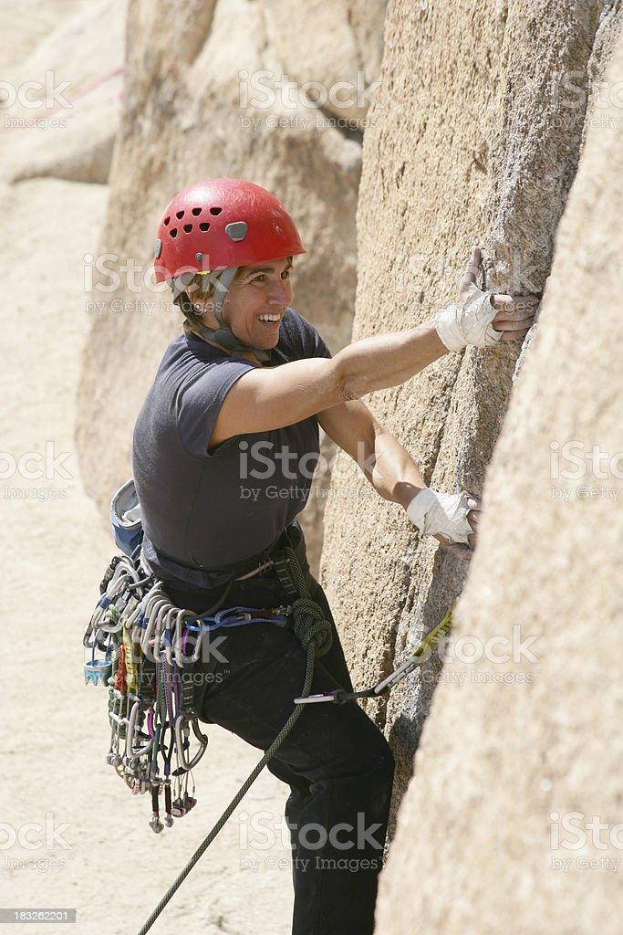 Female Climber at Joshua Tree royalty-free stock photo