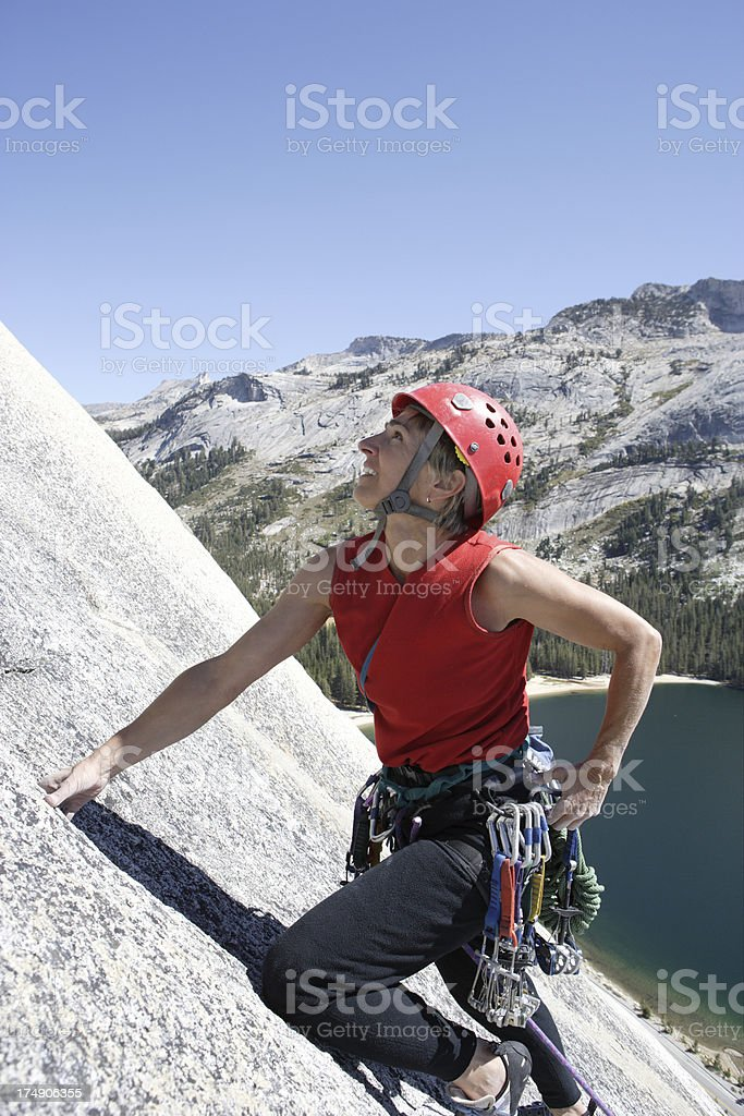 Female Climber in Yosemite royalty-free stock photo