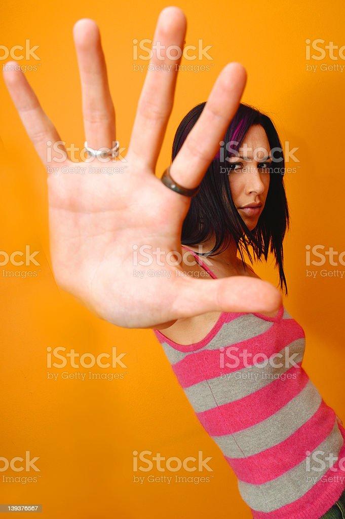 Female - close up hand royalty-free stock photo