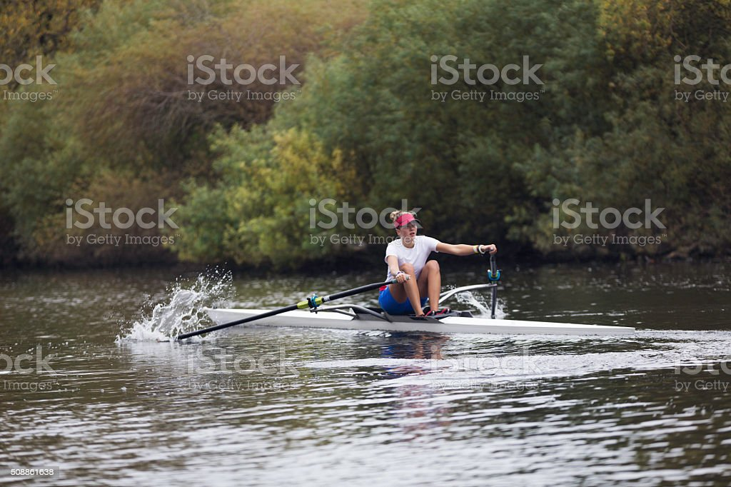 Female Club Rower stock photo