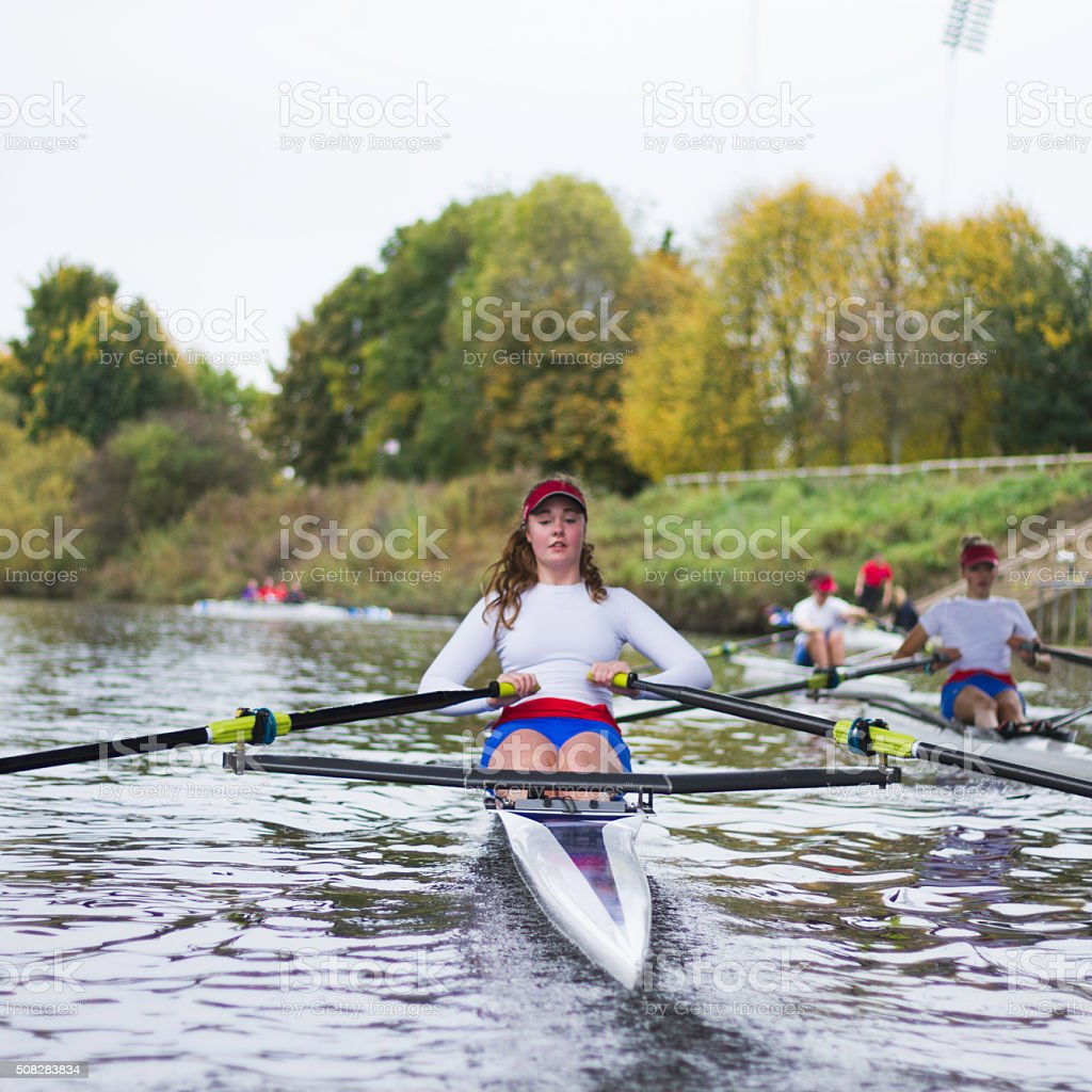 Female Club Rowers stock photo