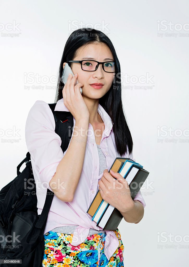 Female college student stock photo