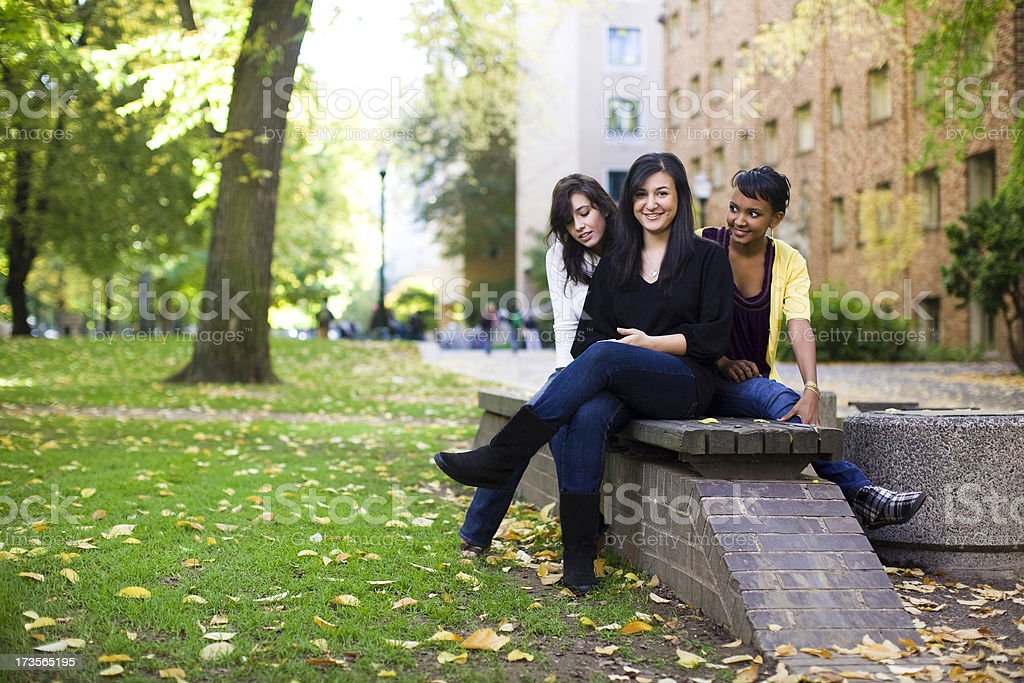 female college students royalty-free stock photo