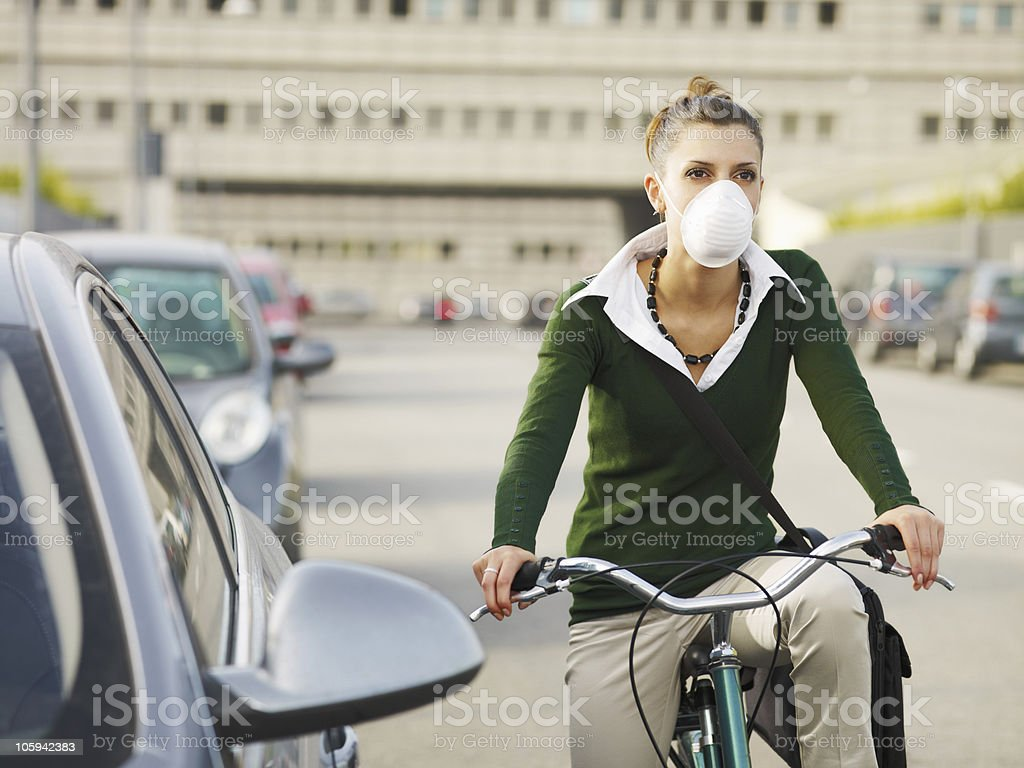 female commuter royalty-free stock photo