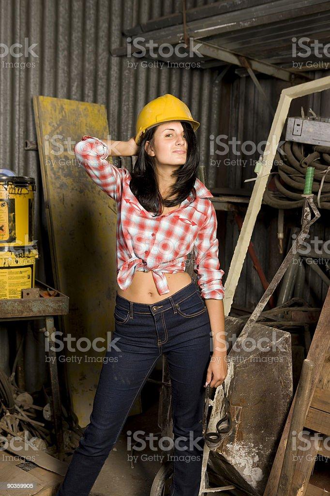 Female Construction Apprentice royalty-free stock photo