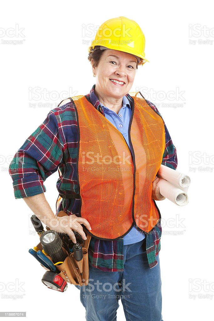 Female Construction Contractor royalty-free stock photo