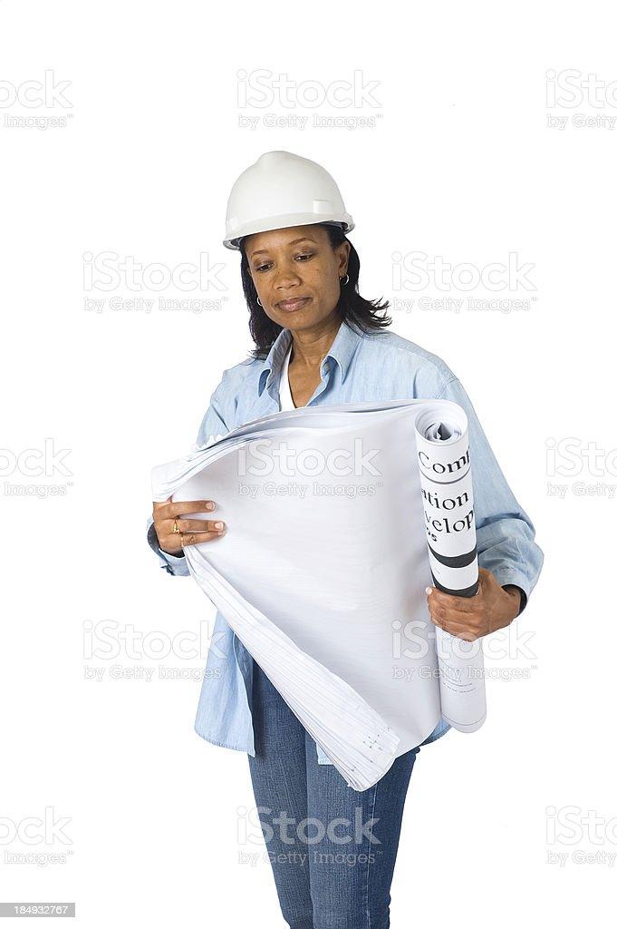 Femmina responsabile delle costruzioni foto stock royalty-free