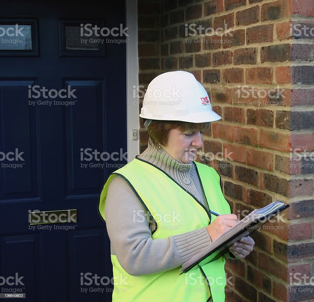 female construction worker 2 stock photo