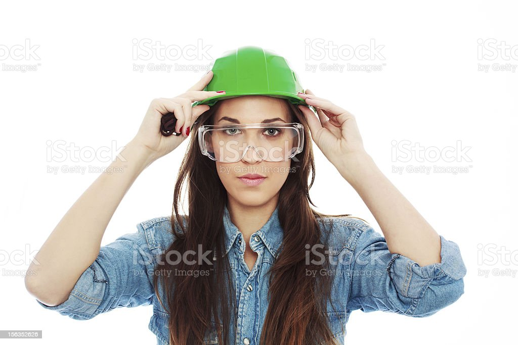 Female construction worker 2 royalty-free stock photo