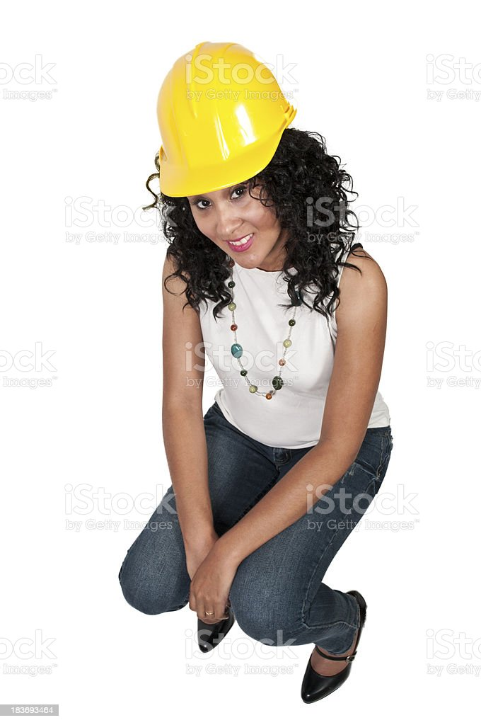 Female Construction Worker royalty-free stock photo