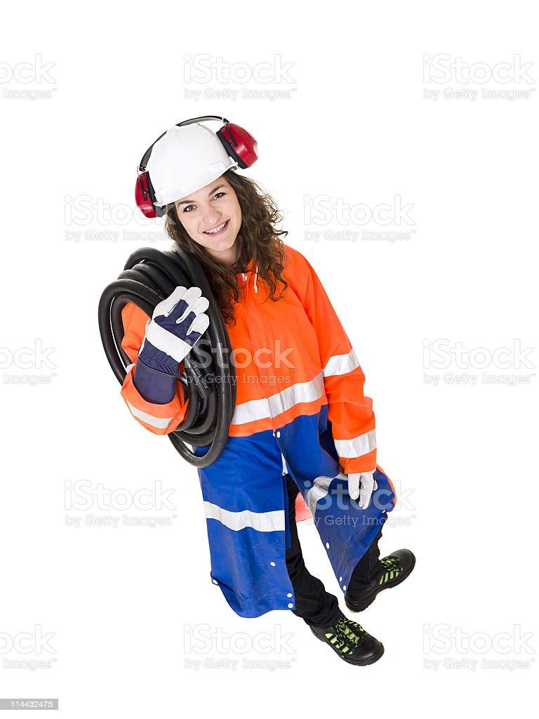 Female Constructionworker stock photo