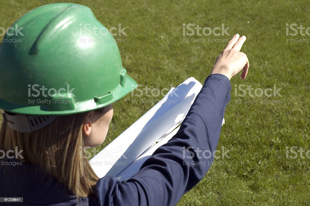 Female constructor royalty-free stock photo