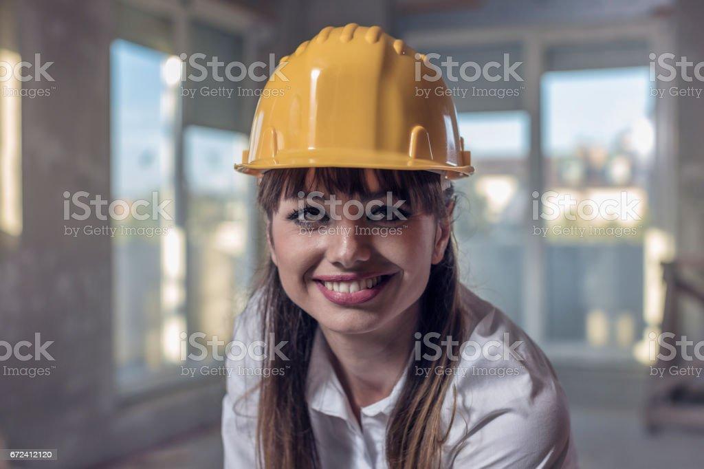 Female Contractor stock photo