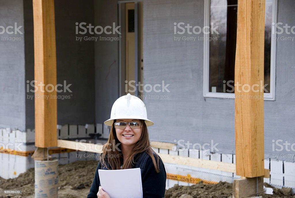 Female Contractor royalty-free stock photo
