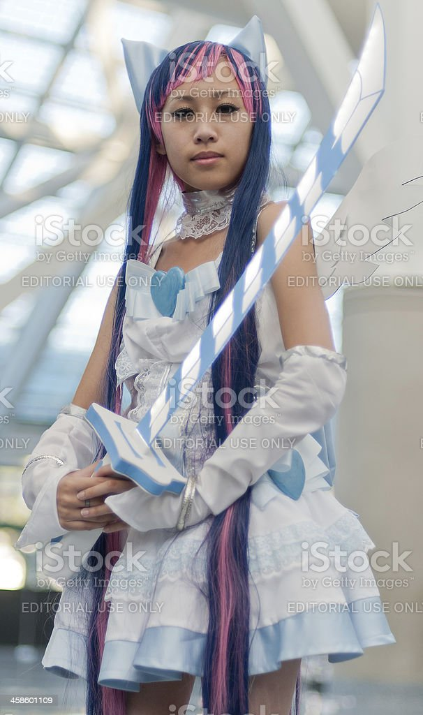 Female Cosplayer With Sword royalty-free stock photo