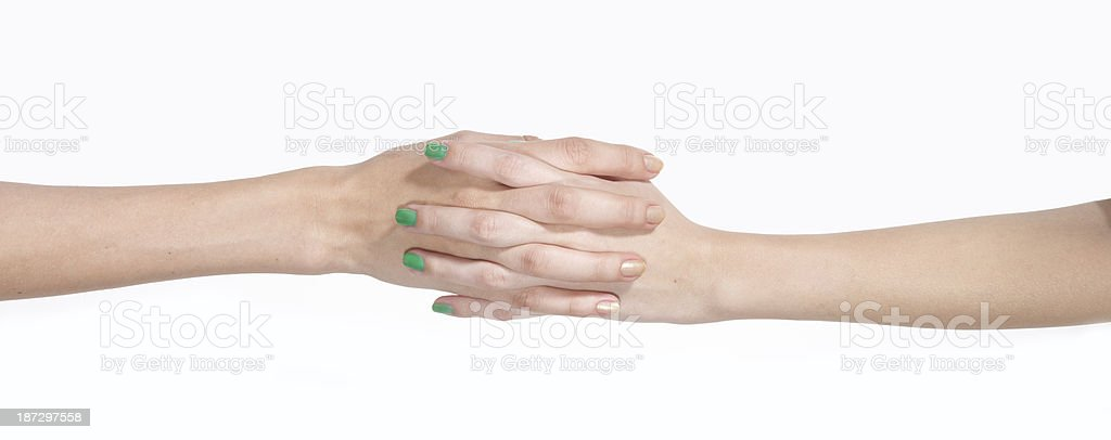Female Couple holding hands royalty-free stock photo