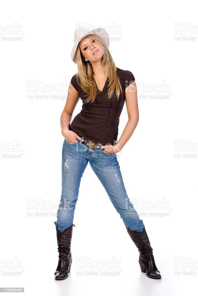 Female cowboy royalty-free stock photo