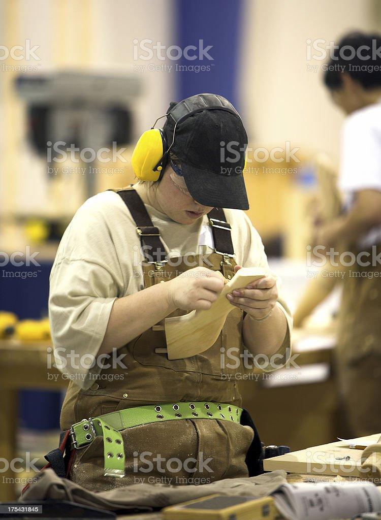 Female Craftsperson royalty-free stock photo