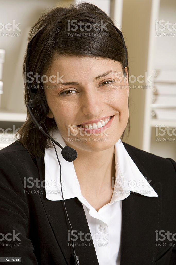 Female Customer Service Portrait royalty-free stock photo