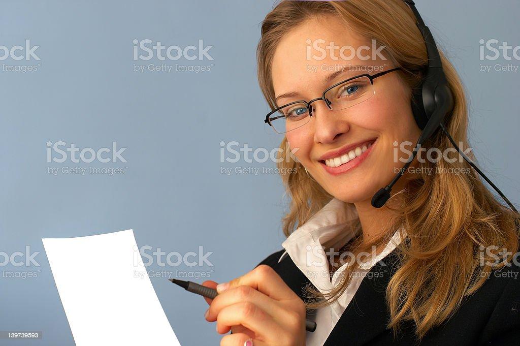 Female Customer Service Representative royalty-free stock photo