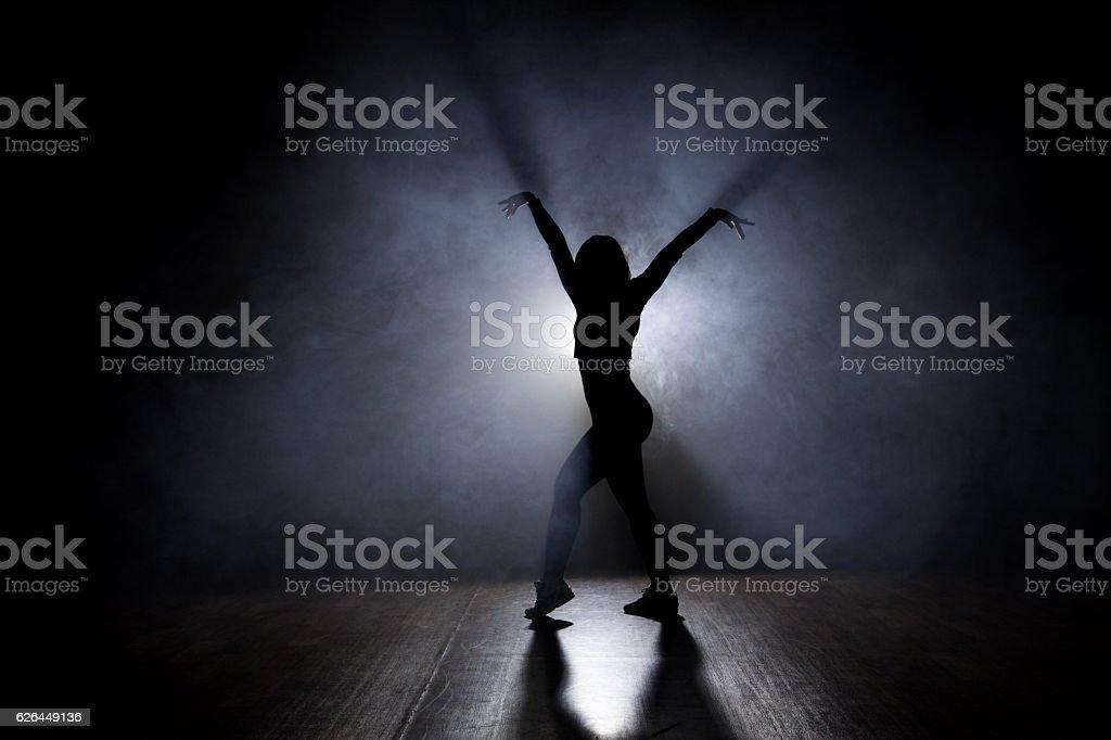 Female Dancer Backlit stock photo