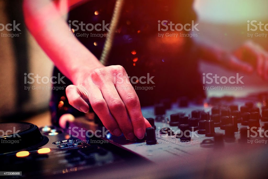 Female DeeJay stock photo