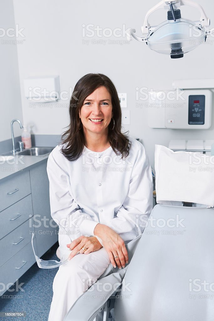 Female Dentist Hygienist in Dental Clinic Office, Small Business Owner stock photo