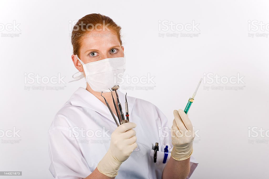 Female dentist royalty-free stock photo