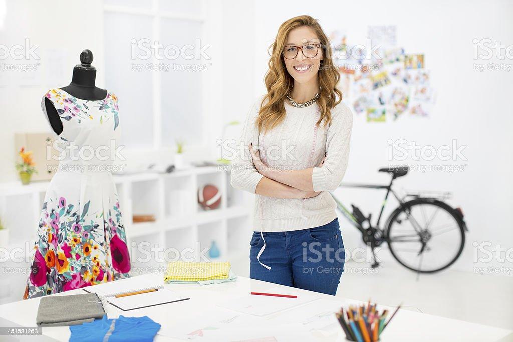 Female Designer At Work. royalty-free stock photo