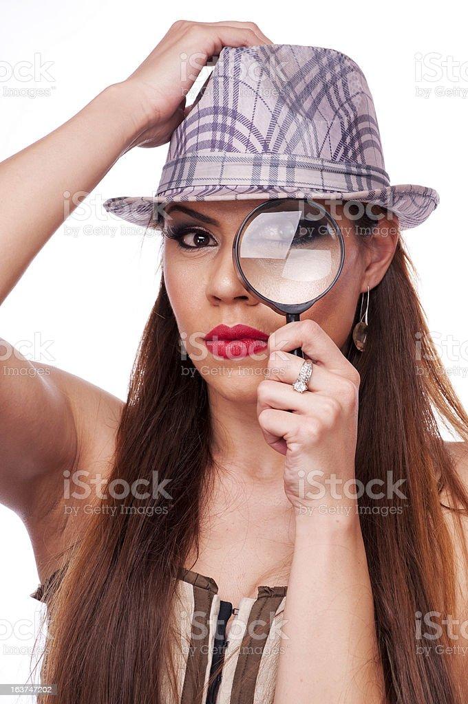 Female detective royalty-free stock photo