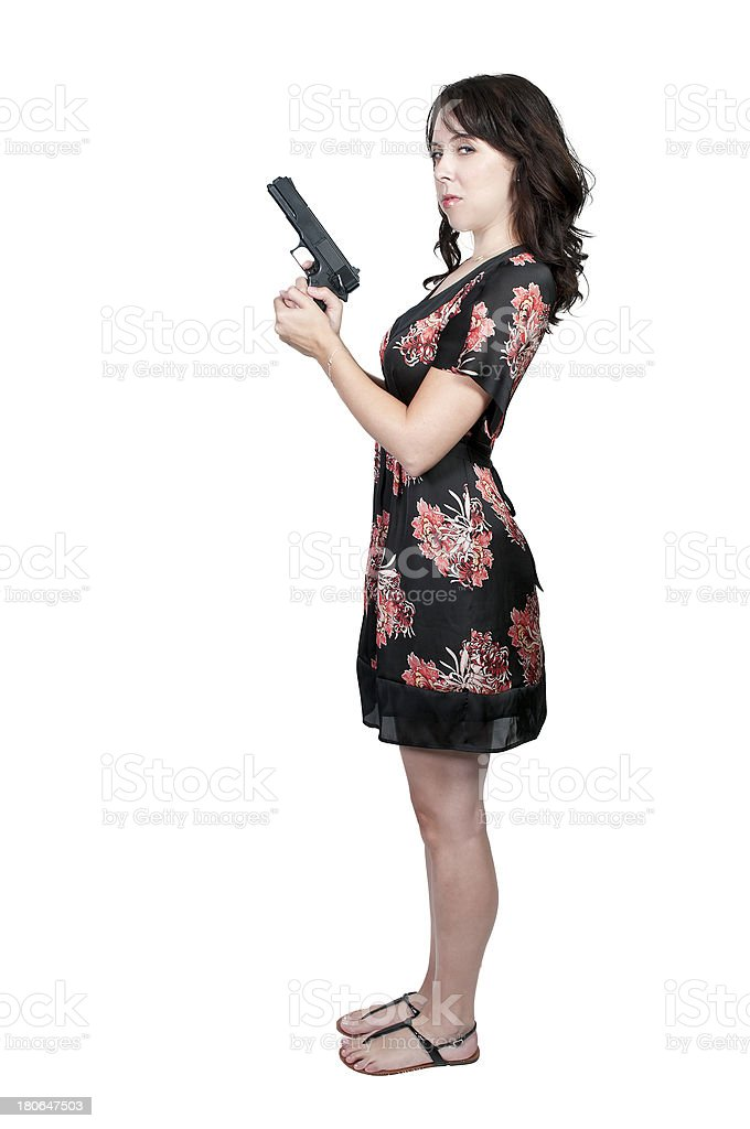 Female Detective stock photo
